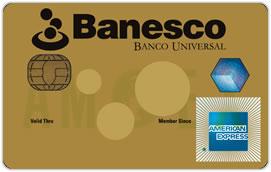 Tarjeta de Crédito Banesco American Express Dorada