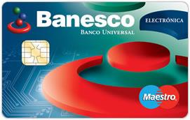 Tarjeta Banesco Maestro Electrónica