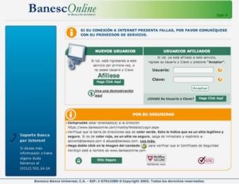 Paso 1 Ingresa a BanescOnline