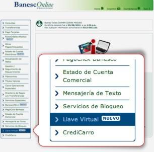 Paso 2 Ubica la opción Llave virtual en el menú de aplicaciones